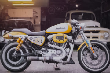 Yellow Harley-Davidson Cafe Racer Custom