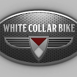 White Collar Bike Logo