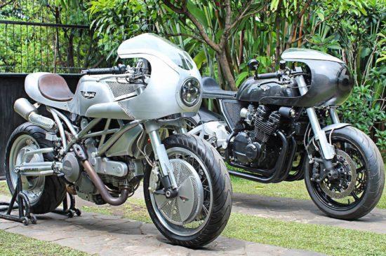 White Collar Custom Motorcycle Workshop Ducati & Honda Cafe Racer