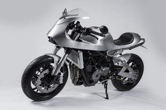 White Collar New Wave Custom Motorcycle
