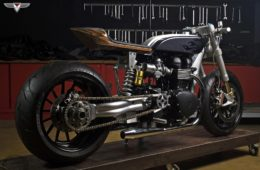 White Collar Triumph Bonneville Custom