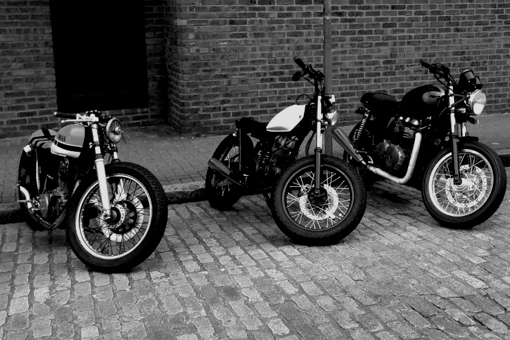 The Shop Custom | Honda CB125, Triumph Thruxton 900, Yamaha bratstyle custom