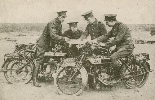 Ariel Dispatch Rider WW1