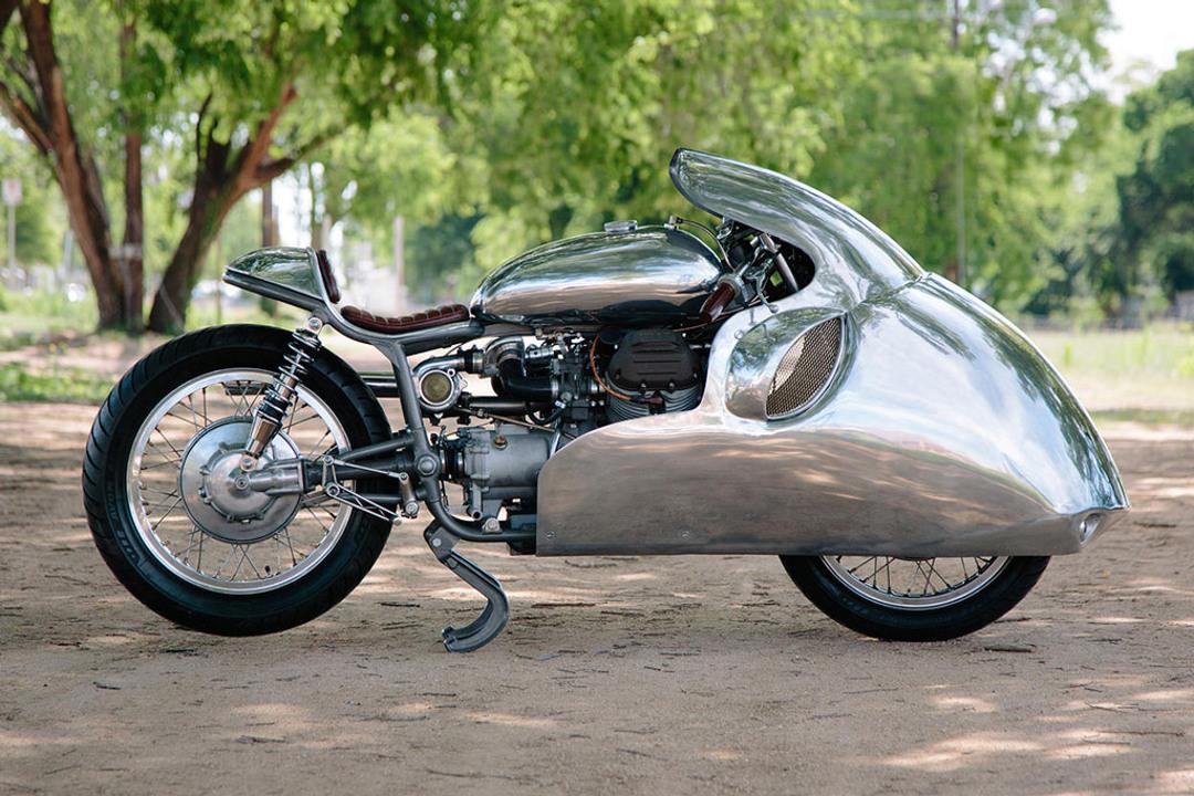 1969 Moto-Guzzi Ambassador 'Dustbin Racer'