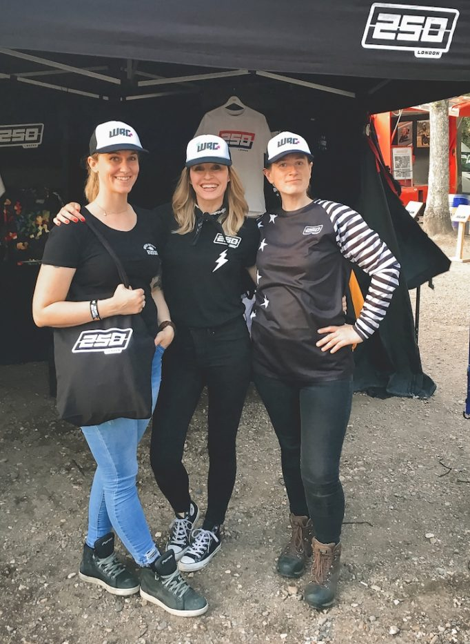 Jennifer Johnston with Lei North and Chrissie Walton at DirtQuake
