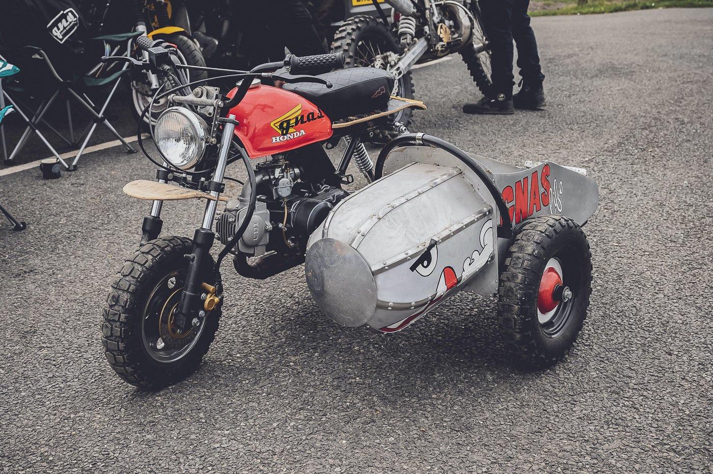 Monkey Bike with Sidecar