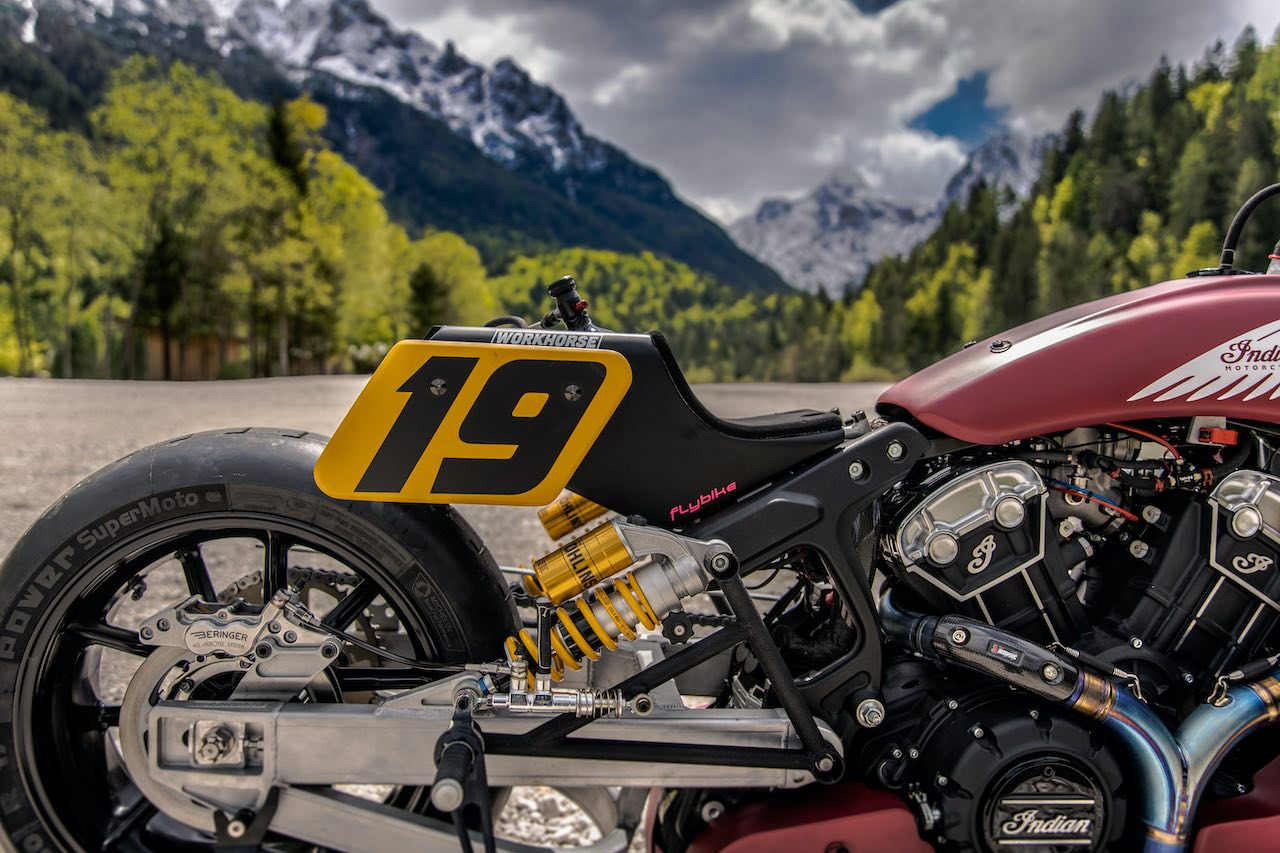 Appaloosa V2 Tail section with number plate - Indian Scout Bobber