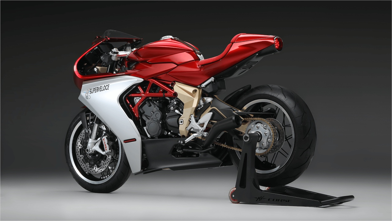 MV Agusta Superveloce 800 Serie Oro rear left side
