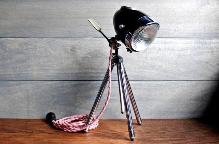 Modern Weld Motorcycle Desk Lamp